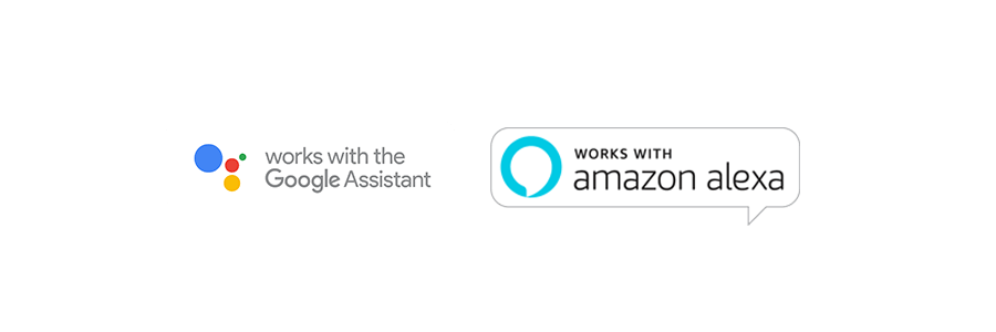 Compatible with Google Assistant and Amazon Alexa